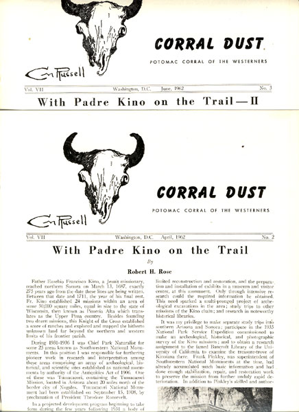 With Padre Kino On The Trail. Parts I & Ii. by  Robert H. Rose