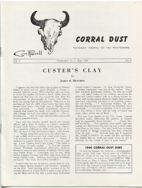 Custer's Clay. by James S. Hutchins