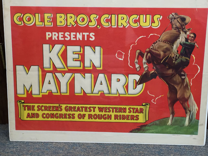 Cole Bros. Circus Presents Ken Maynard, The Screen's Greatest Western Star And Congress Of Rough Riders by  Ken Maynard