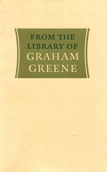 From The Library Of Graham Greene.  by  Jean. Mcneil