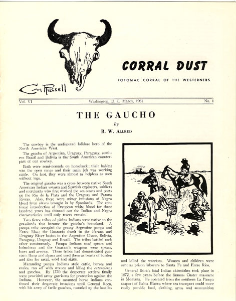The Gaucho.  by  B.W. Allred