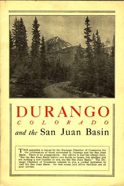 Durango, Colorado And The San Juan Basin.
