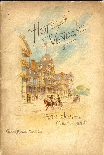 Hotel Vendome. San Jose, California by Carrie Stevens Walter