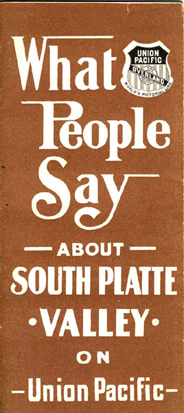 What People Say About South Platte Valley On Union Pacific Union Pacific Railroad