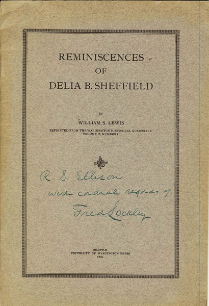 Reminiscences Of Delia B. Sheffield by  William S Lewis