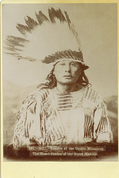 Original Photograph Of Chief Gall, A Hunkpapa Dakota Indian by  William R. Cross