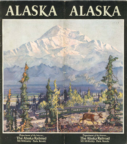 Alaska. Department Of The Interior, The Alaska Railroad, Mt. Mckinley Park Route by The Alaska Railroad