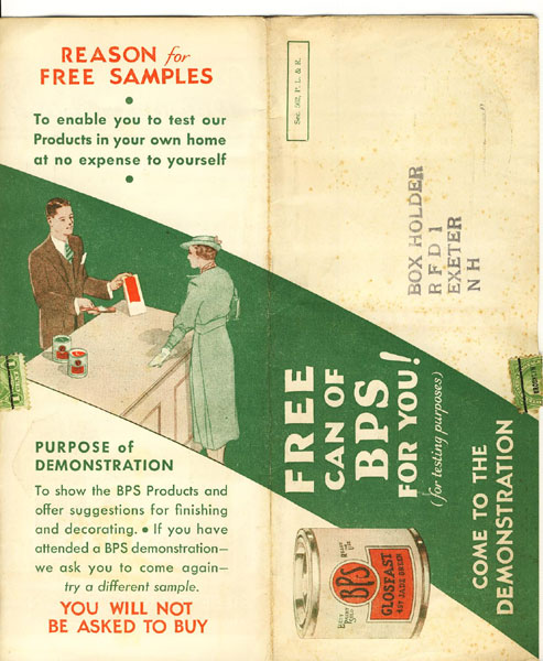 Bps Free Can Of Bps For You! (For Testing Purposes) The Patterson-Sargent Co., Cleveland, Ohio, Et Al