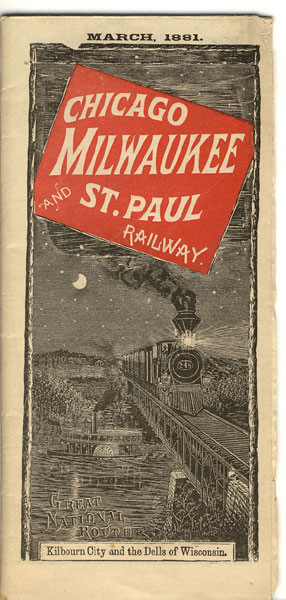March, 1881. Great National Route  Milwaukee & St. Paul Railway, cag