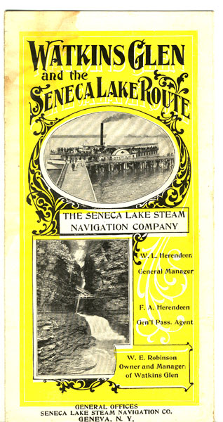 Watkins Glen And The Seneca Lake Route by Seneca Lake Stream Navigation Company