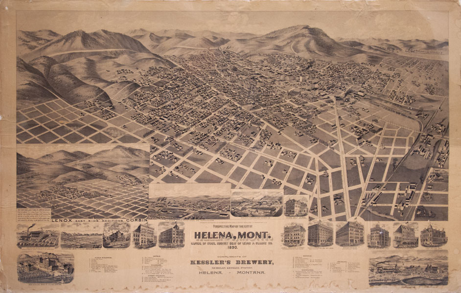 Map Of The City Of Helena Mont Capital Of State County Seat Of