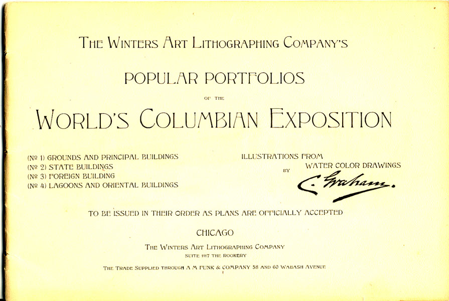 The Winters Art Lithographing Company's Popular Portfolios Of The World's Colombian Exposition