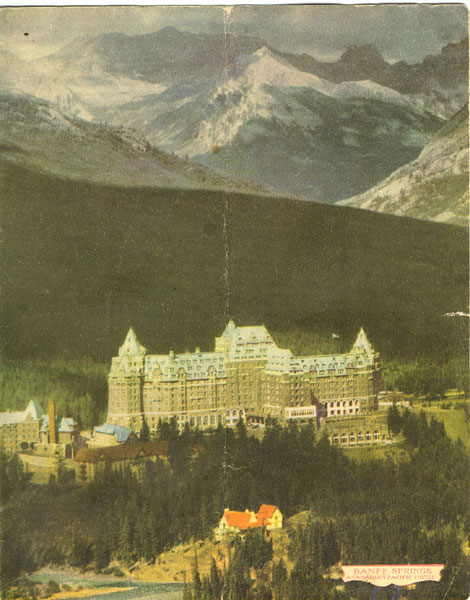 Banff Springs Hotel Dinner Menu 1948 by Canadian Pacific Hotels