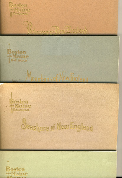 Picturesque New England, Historical Miscellaneous. Four Volumes: Picturesque New England; Mountains Of New England; Seashore Of New England; & Rivers Of New England by Boston And Maine Railroad