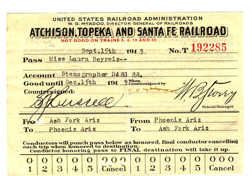 Railroad Pass. Atchison, Topeka And Santa Fe Railroad by  Topeka And Santa Fe Railroad Atchison