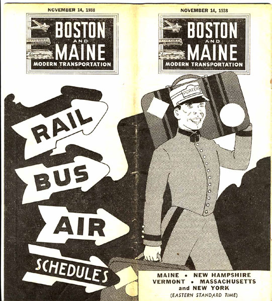 Boston And Maine Modern Transportation. Rail, Bus, Air Schedules by Boston And Maine Modern Transportation