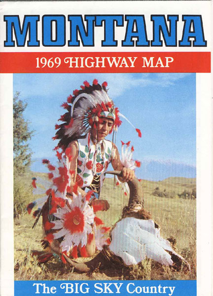 Montana. The Big Sky Country. 1969 Highway Map Montana State Highway Commission