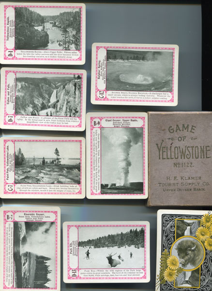 Card Game. Game Of Yellowstone (No. 1122). Descriptive Of The Yellowstone National Park. by The Cincinnati Game Company