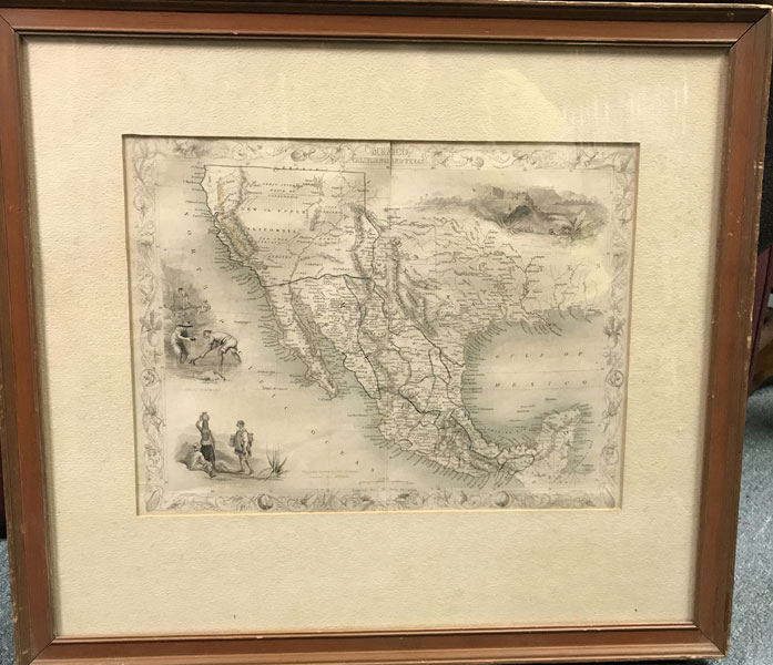Map Of Mexico, Texas, And California by  J Rapkin