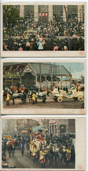 Set Of 6 - 1907 Mardi Gras Postcards