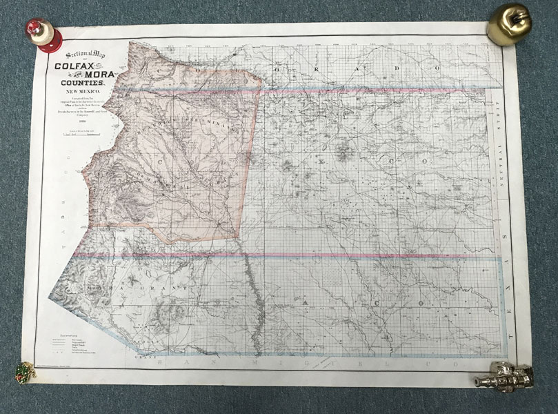 Sectional Map Of Colfax And Mora Counties New Mexico By Edward