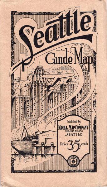 Seattle Guide Map Kroll Map Company