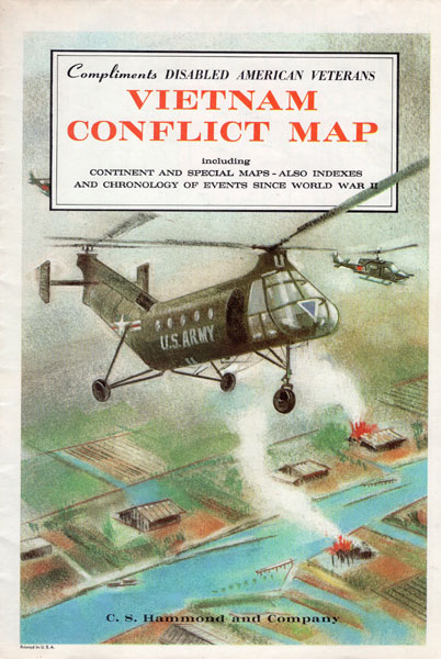 Vietnam Conflict Map Including Continent And Special Maps - Also Indexes And Chronology Of Events Since World War Ii Compliments Disabled American Veterans