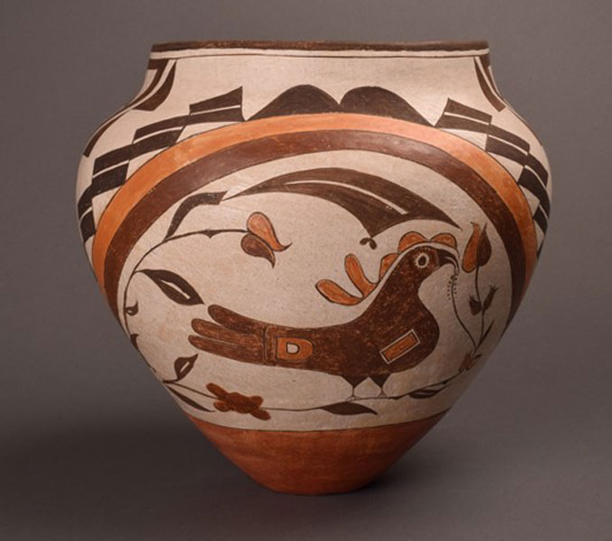 Four Color Polychrome Parrot Jar From Acoma Pueblo by Starr
