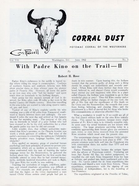 With Padre Kino On The Trail. Part Ii by  Robert H. Rose