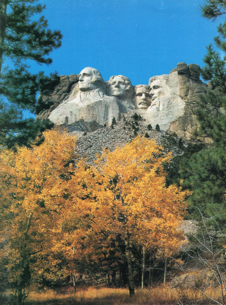 "Mount Rushmore National Memorial, ""The Shrine Of Democracy."" A Monument Commemorating The Founding, Expansion, Preservation And Unification Of The Great American Republic by  Inc Dakota Resources"