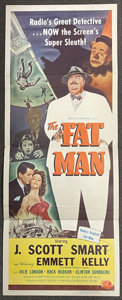 The Fat Man. Movie Poster by Inc Universal Pictures Company