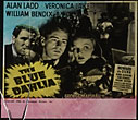 The Blue Dahlia: Rare Glasscoming-Attraction Slide For The 1942 Movie, Based On Chandler's Original Screenplay, Starring Alan Ladd, Veronica Lake, And William Bendix. by  Raymond. Chandler