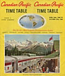 Canadian Pacific Time Table, April 24th, 1960 To October 29th, 1960.  J.M. Roberts [General Traffic Manager]