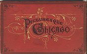 Picturesque Chicago. Accordian Style Viewbook.  Chicago Engraving Company