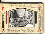 San Francisco - Oakland Bay Bridge. 18 Minature Post Cards In Original Mail Folder by  Gabriel, And Piggott (Attributed To) Moulin