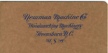 Newman Machine Co., Woodworking Machinery by  Greensboro, Nc Newman Machine Co.