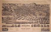 Perspective Map Of The City Of Helena, Mont. Capital  Of State, County Seat Of Lewis & Clarke Co. 1890. Compliments Of Kessler's Brewery, Nicholas Kessler, Proprietor, Helena - Montana by Kessler'S Brewery