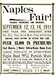 Program For Naples, New York, Fair. 1911.