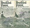 Petrified Forest National Monument, Arizona. by Topeka And Santa Fe Railway Co. The Atchison