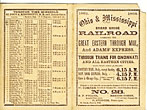 Trade Card. Ohio & Mississippi Broad Gauge Railroad Carrying The Great Eastern Through Mail, And Adams' Express. Through Trains For Cincinnati And All Eastern Cities by Ohio & Mississippi Broad Gauge Railroad