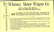 The Whitney Motor Wagon ...