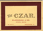 The Czar / (Title Page) Czar Bicycles The Czar Cycle Co., Chicago, Illinois