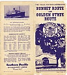 Southern Pacific Lines, Sunset Route And Golden State Route. Time Tables For Train Distribution. by Southern Pacific Lines