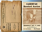 Caberfae Hereford Auction. Thursday, …