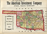Color Map Of The Oklahoma Country by The American Investment Company