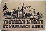 "Thousand Island's St. Lawrence River / [Title Page] Thousand Islands And St. Lawrence River. ""The Venice Of America."" 121 Photographic Views Of The Island Region. Reproduced In Sepia And Natures Own Colors. Automobile Road Map Of Northern New York Santway Photo-Craft Company"