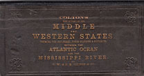 Colton's Map Of Part Of The Middle And Western States, Showing The Railroads, Their Stations & Distances, Between The Atlantic Ocean And The Mississippi River. (Cover Title) by G. W. & C. B. Colton & Co