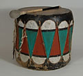 Cochiti Drum With Beater by Artist Unknown