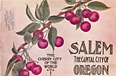 Salem: The Capital City Of Oregon. The Cherry City Of The World. (Cover Title) by Salem Board Of Trade