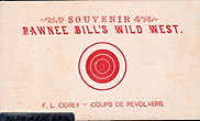 Souvenir Target Card For Pawnee Bill's Wild West by Anonymous